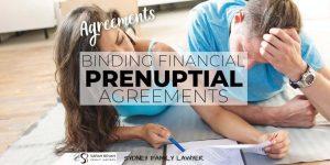 Prenuptial Binding FInancial Agreement Lawyer Sydney