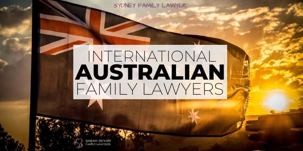 Australian family lawyers international sydney solicitor