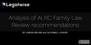 ALRC Legalwise Family Law