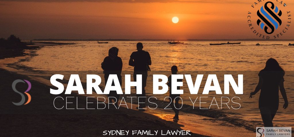 Sarah Bevan Celebrates 20 years as a family Lawyers