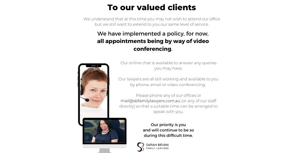 Web conferencing business as usual family lawyer parramatta