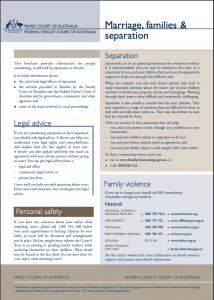 Separation divorce information family court of australia lawyer sydney