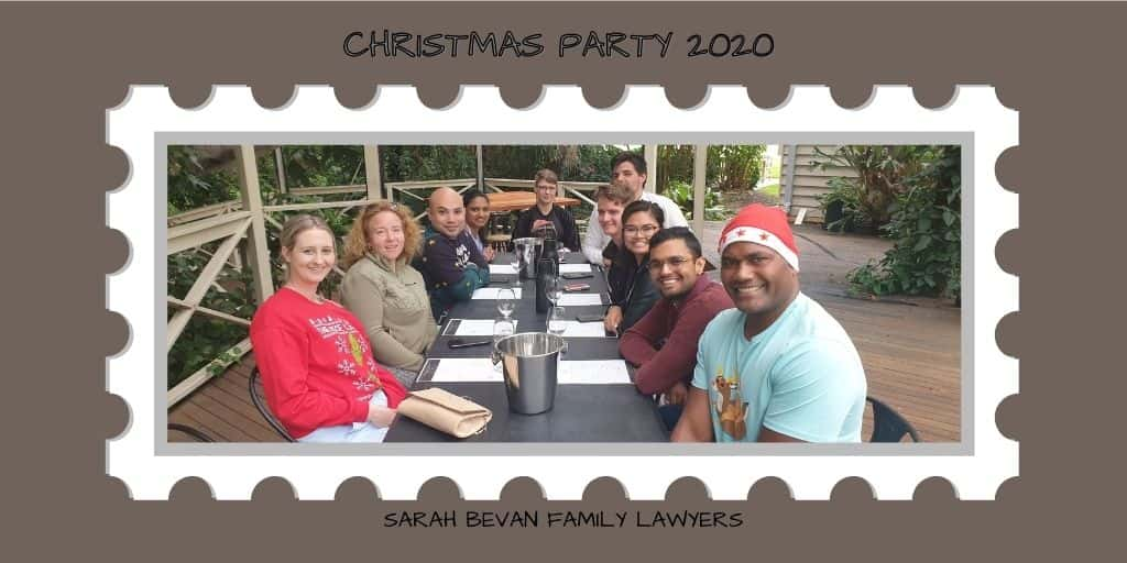 Christmas Party 2020 Sarah Bevan Family Lawyers Parramatta