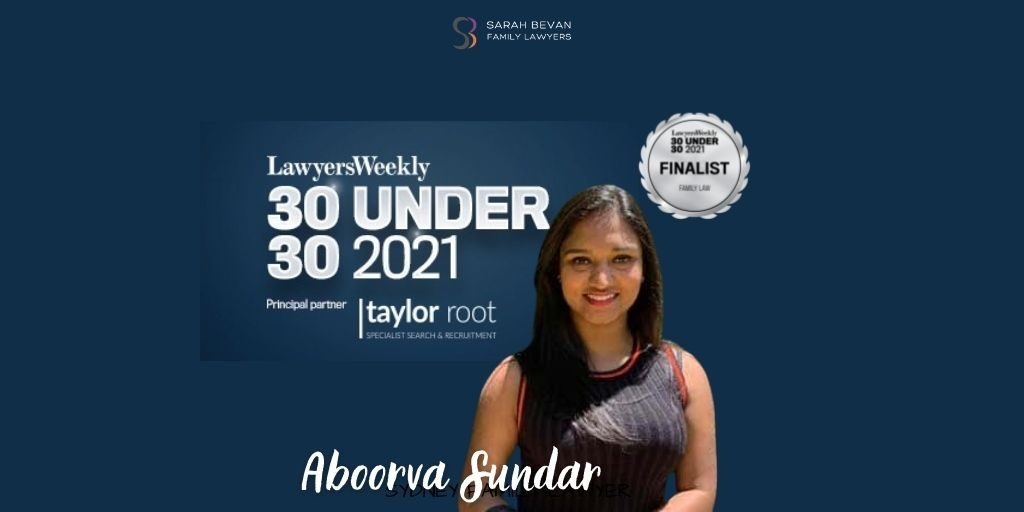 family lawyer finalist 30 under 30 aboorva sundar sydney