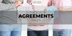 Surrogacy Agreements - Sarah Bevan Family Lawyers